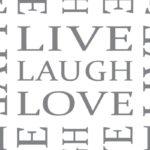 Muster Live Laugh Love - Flachgestricke Kompressionsstrümpfe für den Arm