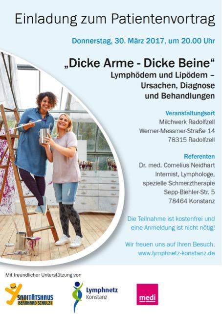 Plakat Patientenvortrag Lipödem und Lymphödem in Radolfzell