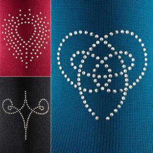 mediven Kompressionsstrümpfe Flachstrick mit Swarovski Kristallen